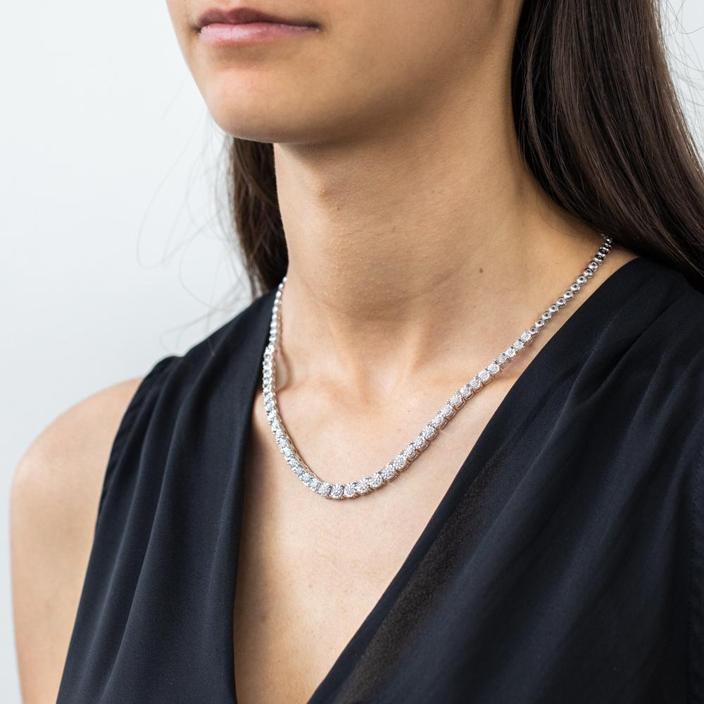 Sterling Silver 1/3 Carat Diamond Chain