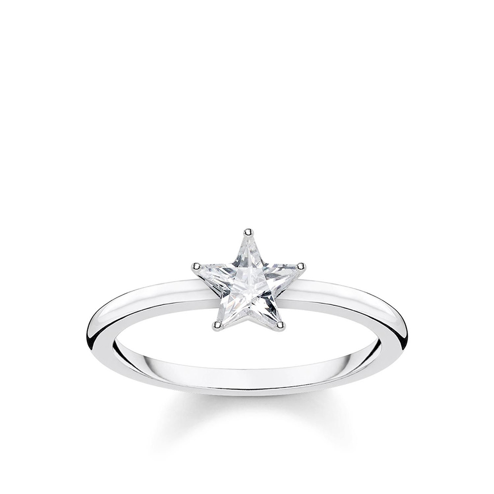 Sterling Silver Thomas Sabo Magic Star Zirconia Solitaire Ring