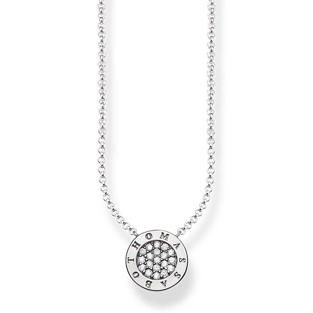 Sterling Silver Thomas Sabo Classic Pave Necklace