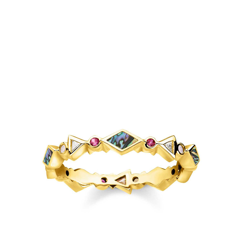 Sterling Silver and Gold Plated Thomas Sabo Fine Stone Ring