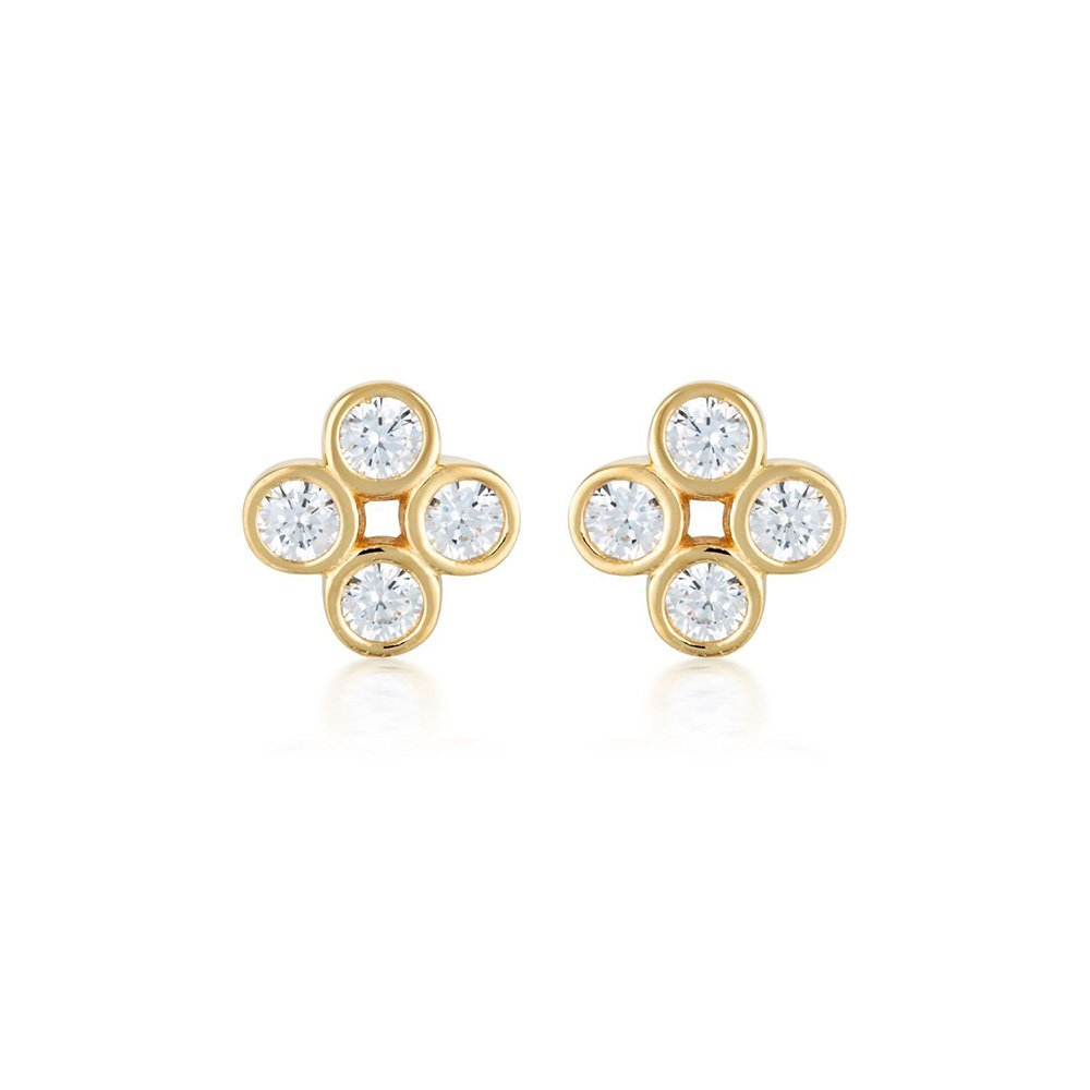 Sterling Silver and Gold Plated Georgini Stellar Lights Stud Earrings