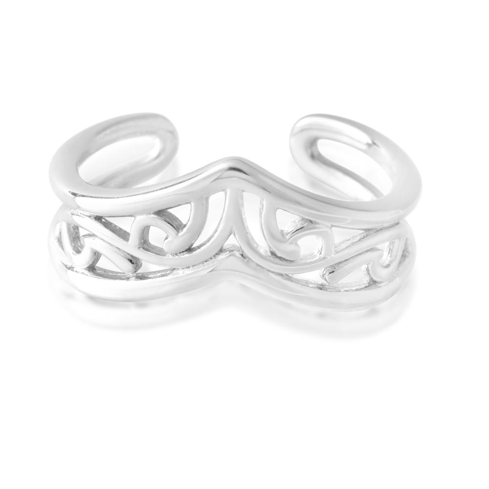 *No Exchange or Refund* Sterling Silver Toe Ring Border Filigree