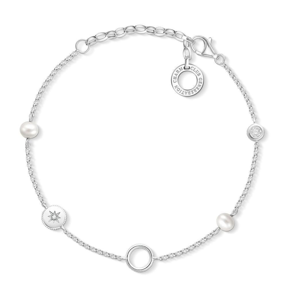 Sterling Silver Thomas Sabo Charm Club Bracelet 15-19cm