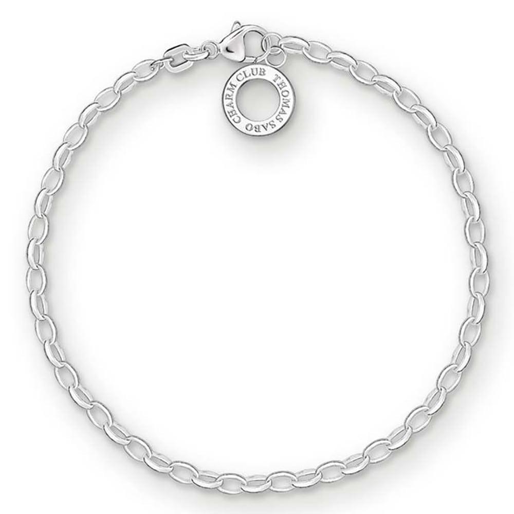 Sterling Silver Thomas Sabo Charm Club Fine Belcher Bracelet 17cm