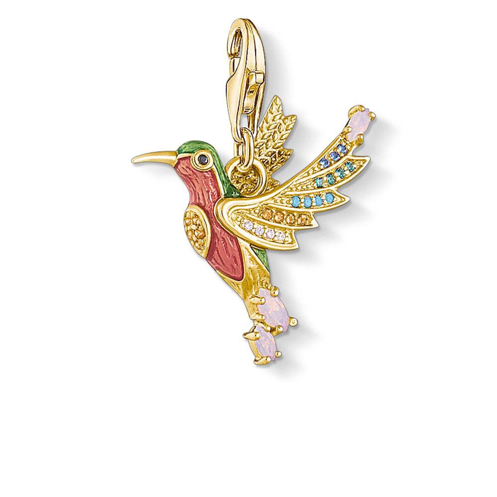 Gold Plated Sterling Silver Thomas Sabo Charm Club Hummingbird