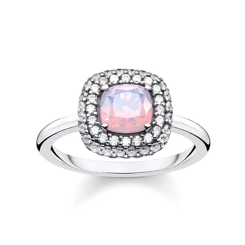 Sterling Silver Thomas Sabo Magic Garden Pink Opal Ring