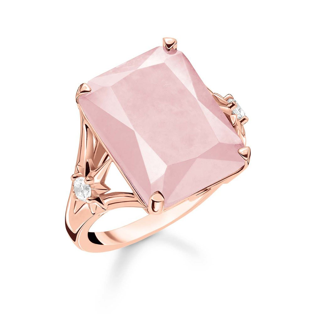 Rose Plated Sterling Silver Thomas Sabo Magic Stones Rose Quartz Ring
