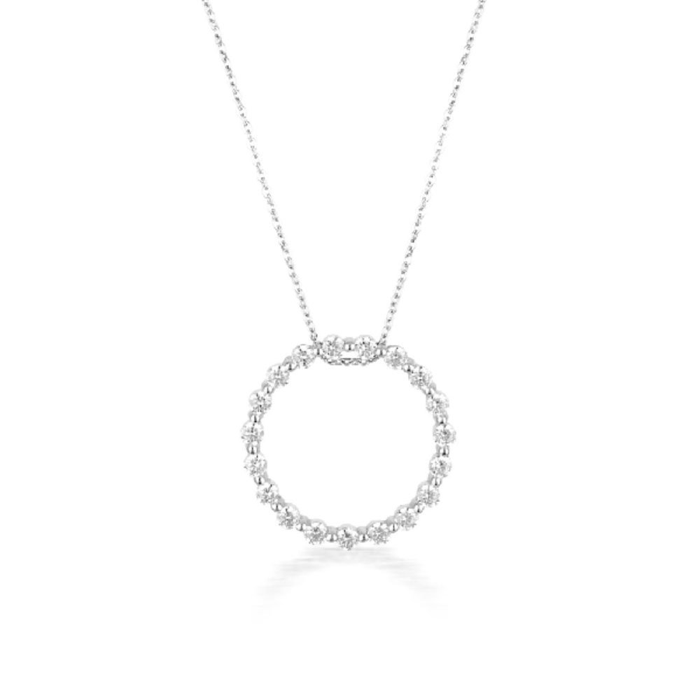 Georgini Sterling silver Zirconia Circle Of Life Pendant