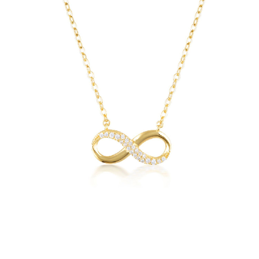 Georgini Gold Plated Sterling Slver Zirconia Forever Infinity Pendant