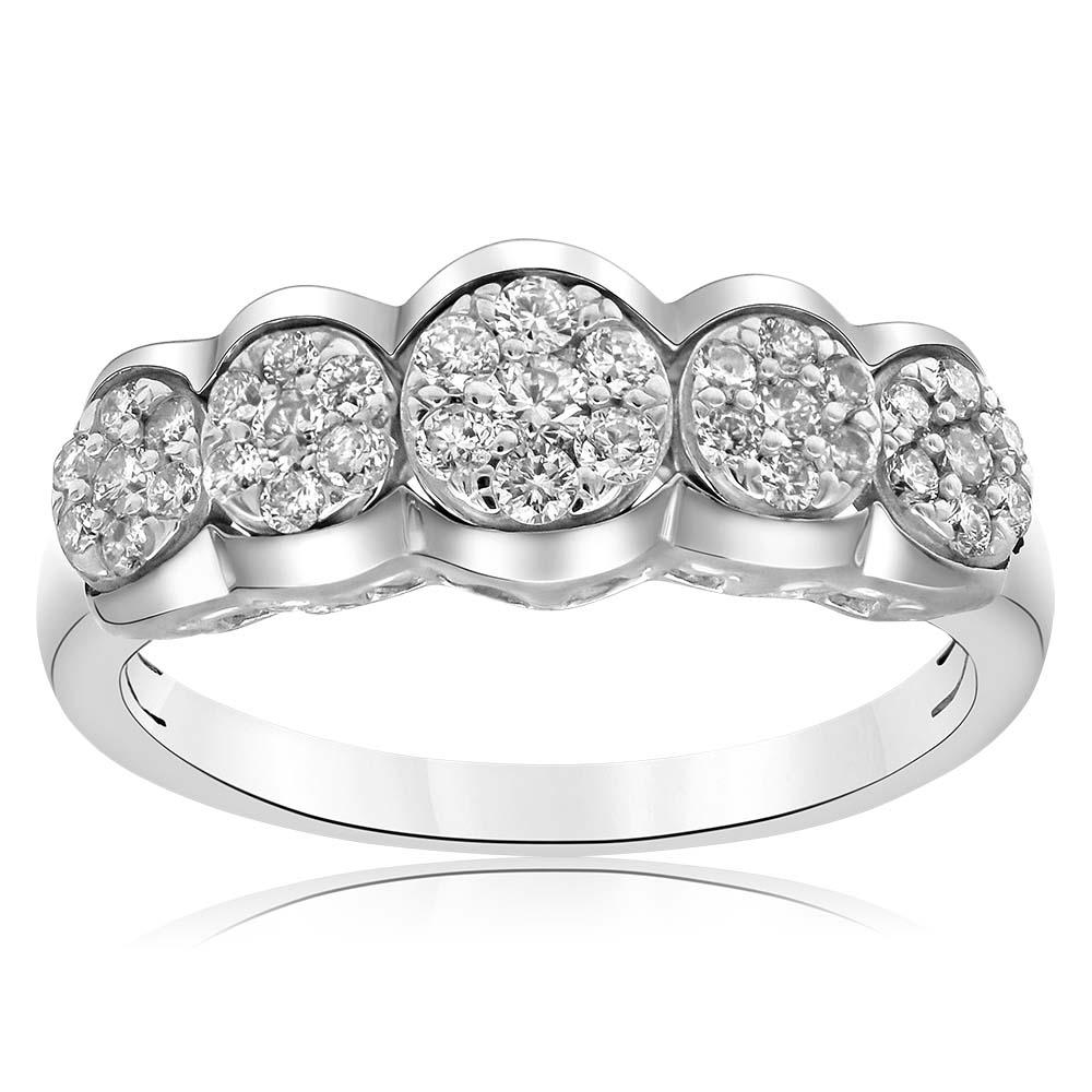 Sterling Silver 1/2 Carat Luminesce Lab Grown Diamond Ring