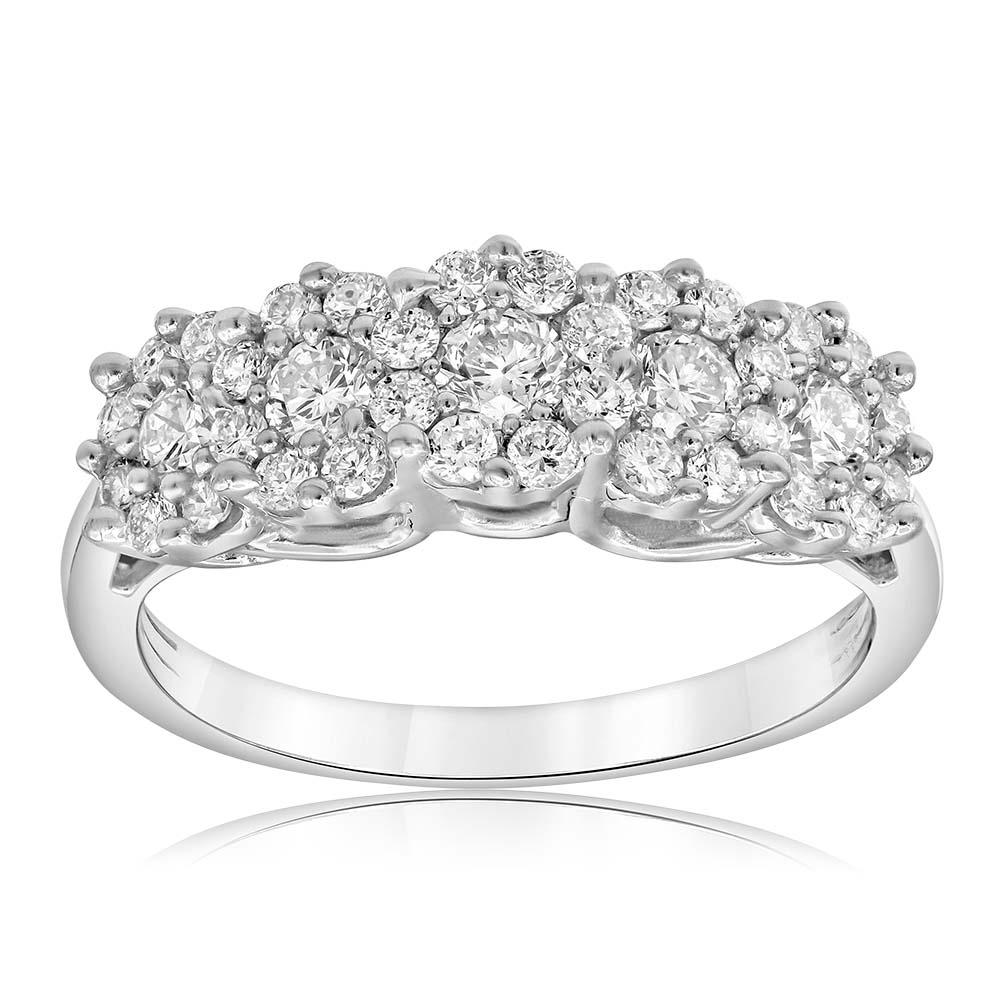 Silver 1 Carat Luminesce Lab Grown Diamond Ring