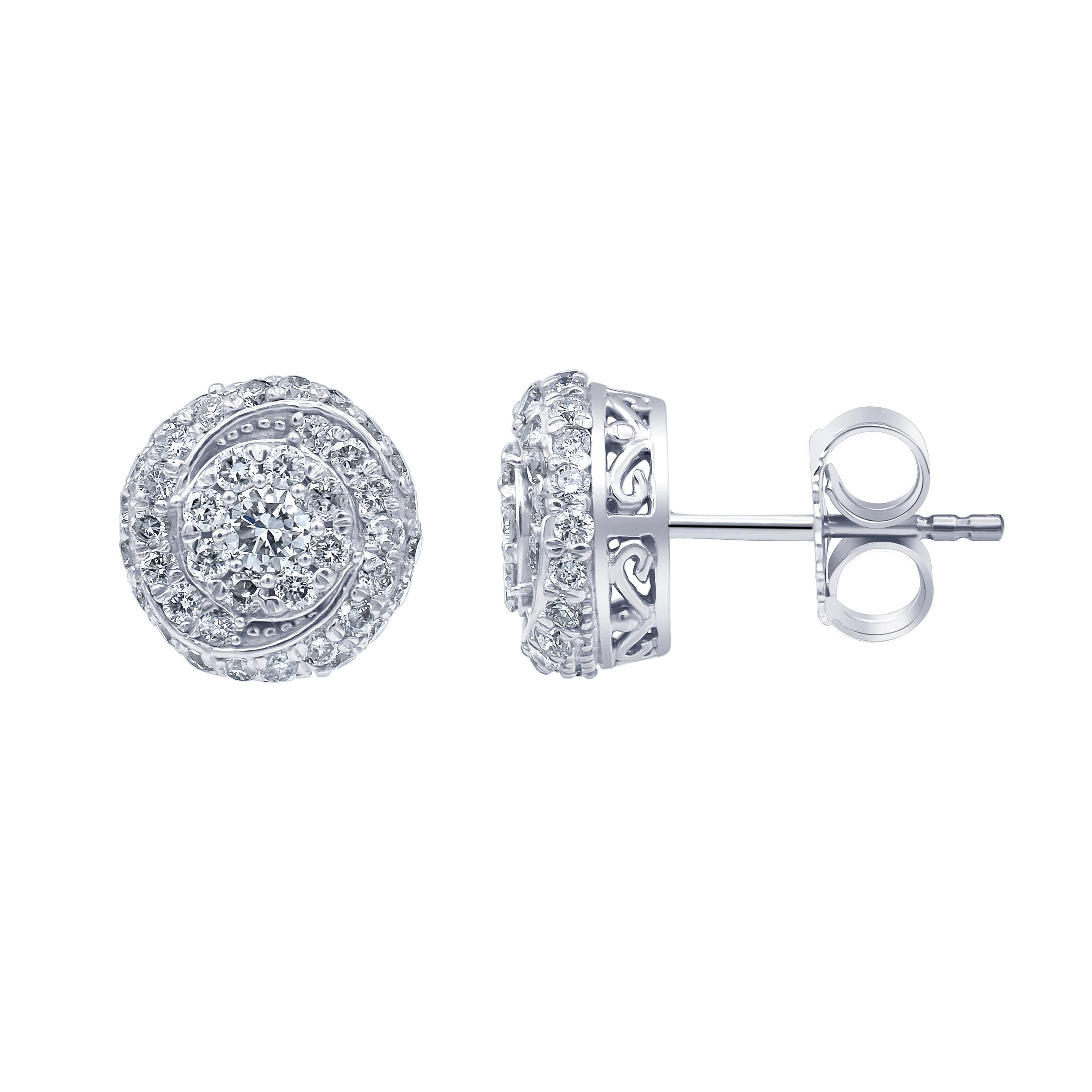 Luminesce Lab Grown Diamond 1 Carat Silver Studs