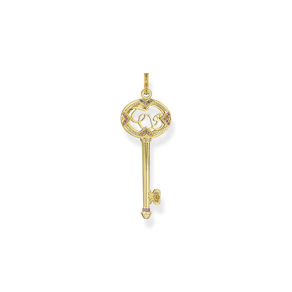 Thomas Sabo Gold Plated Sterling Silver Magic Garden Key Pendant
