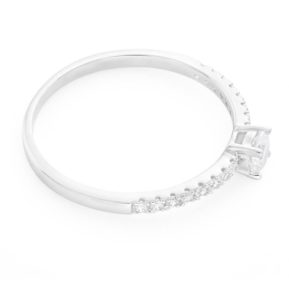 Sterling Silver Cubic Zirconia Fancy Classic Ring