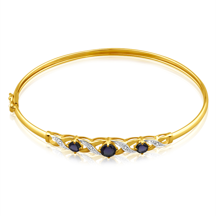 september for bangles products pdp kids main sapphire and gifts bracelet birthstone gold cable with