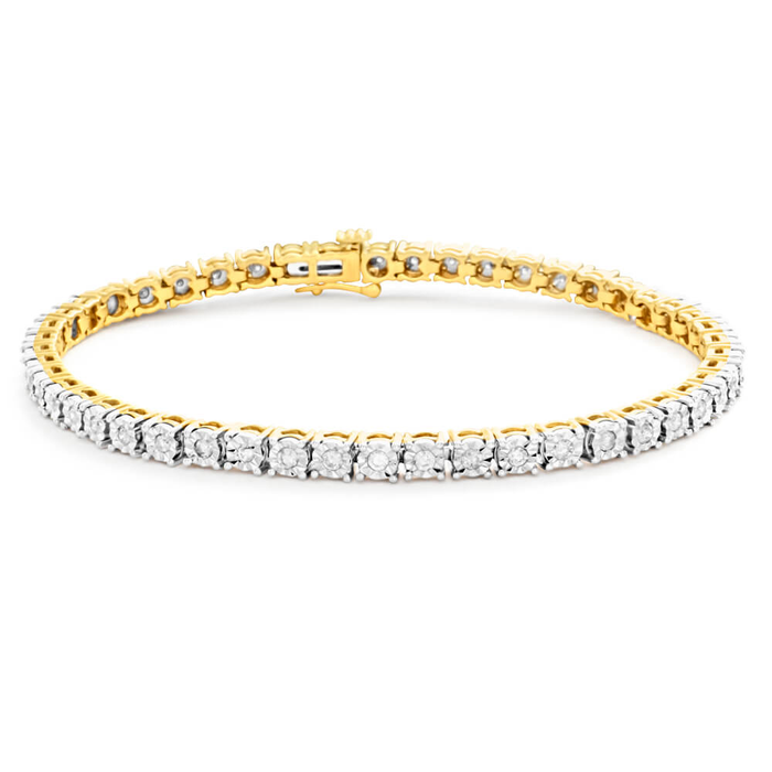 carat com jewelry tennis classic gold bracelet value white dp amazon diamond collection