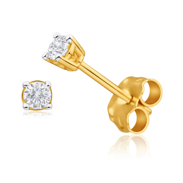 gold yellow whitegold cut diamond fancy carat round in view earrings stud