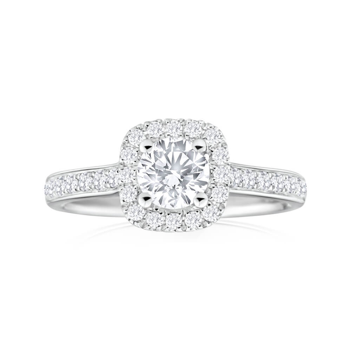 rings zirconia white cubic solitaire gold round solid jewellery cz ring dp engagement size