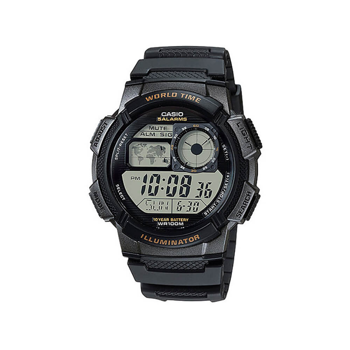 11a168f8cd633 Casio AE1000W-1A World Time Mens Watch