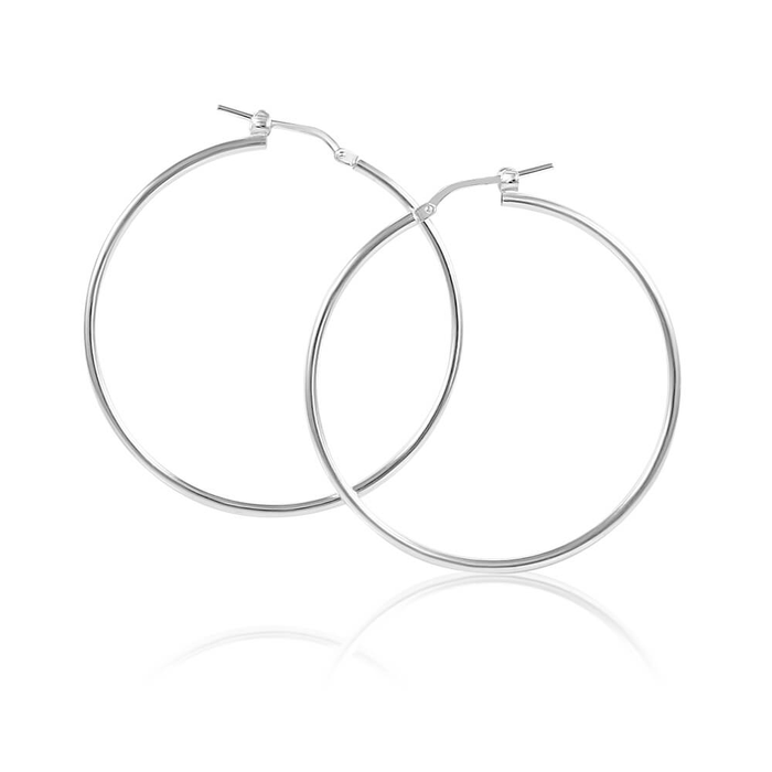 70f7149a6 Sterling Silver Plain 40mm Hoop Earrings (60000835) - Jewellery | Shiels  Jewellers