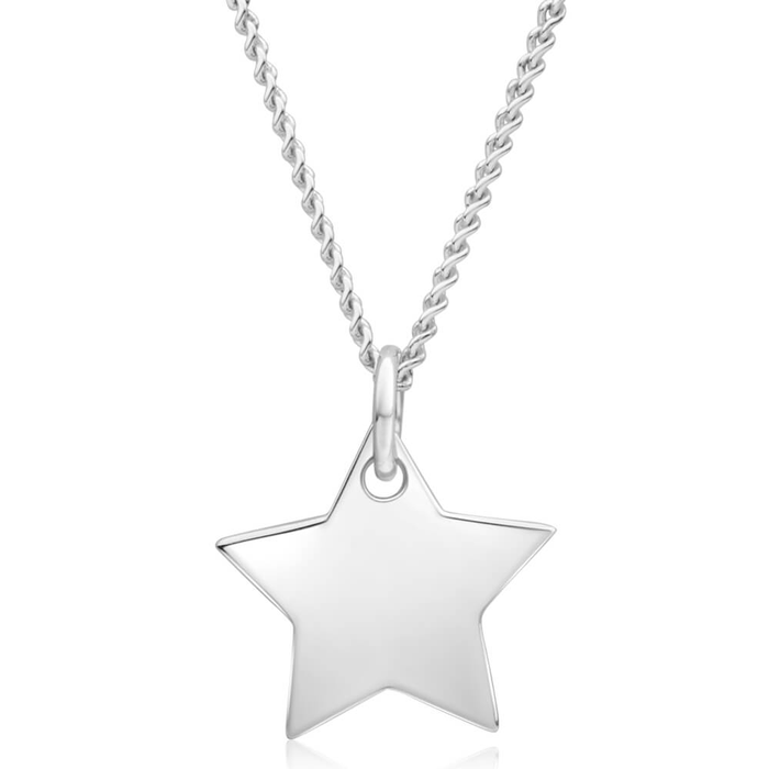 Silver necklaces chains necklaces shiels jewellers sterling silver star pendant mozeypictures Choice Image