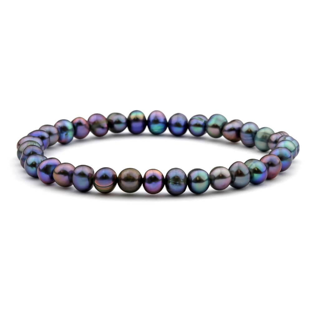 Black Freshwater 18cm Pearl Bracelet