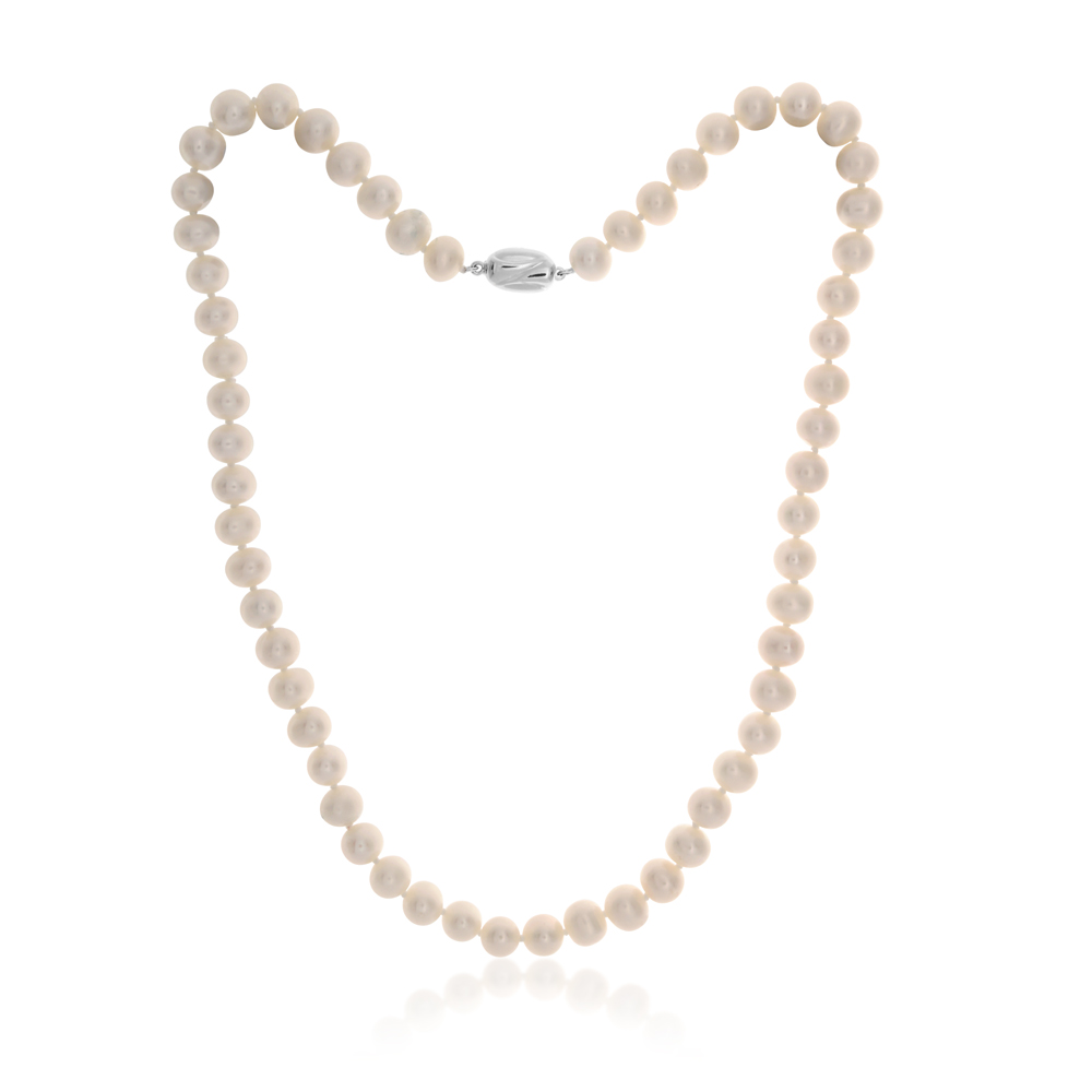 Sterling Silver Freshwater Pearl 7-7.5mm Strand 45cm