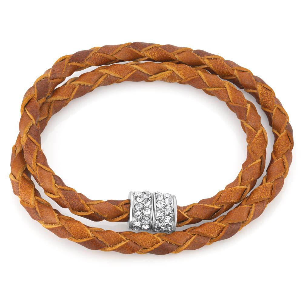 Stainless Steel Crystal Double Wrap Magnetic Fancy Bracelet