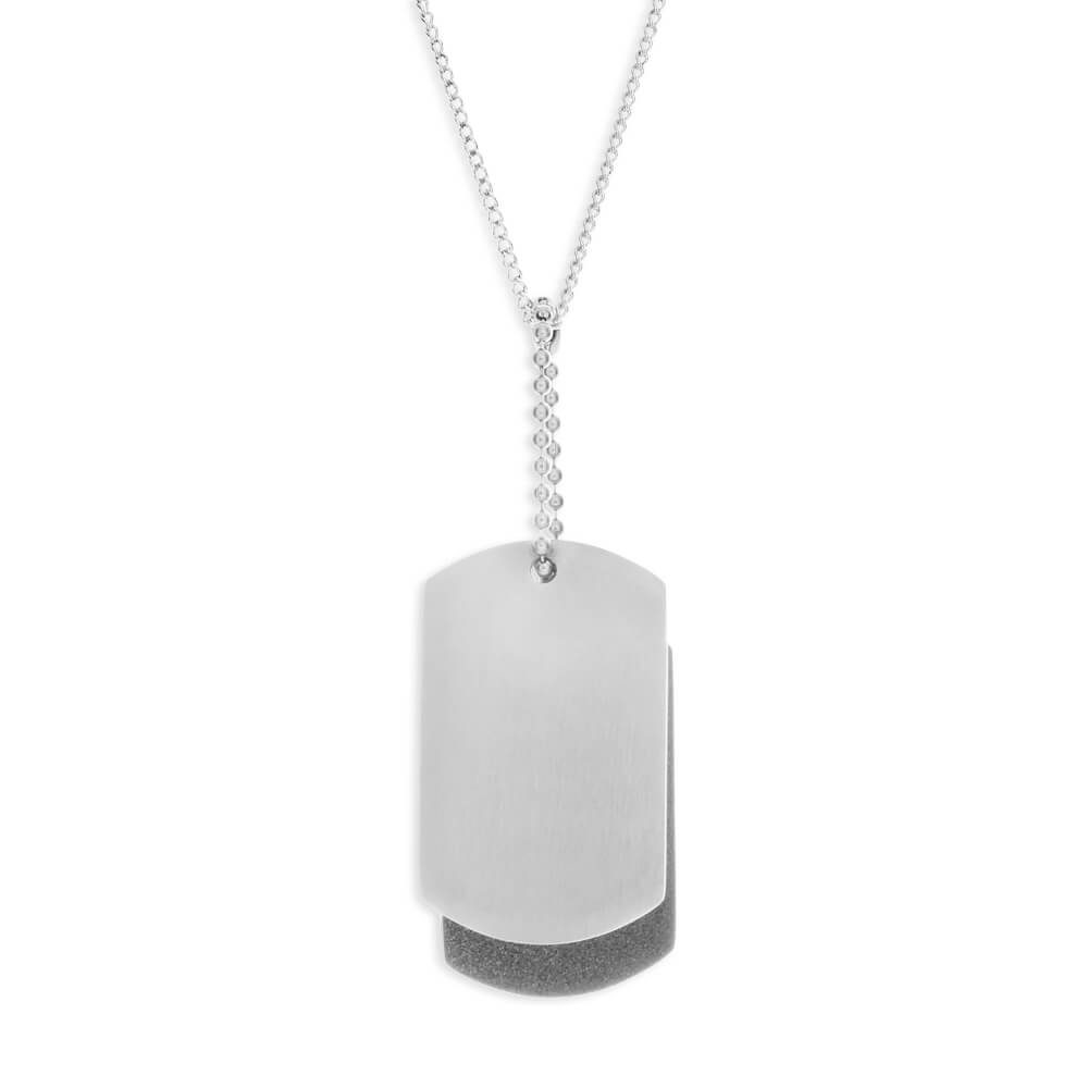 Forte Stainless Steel Double Dog Tag Pendant