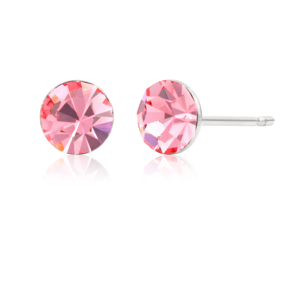 Stainless Steel Crystal Earring Stud Set