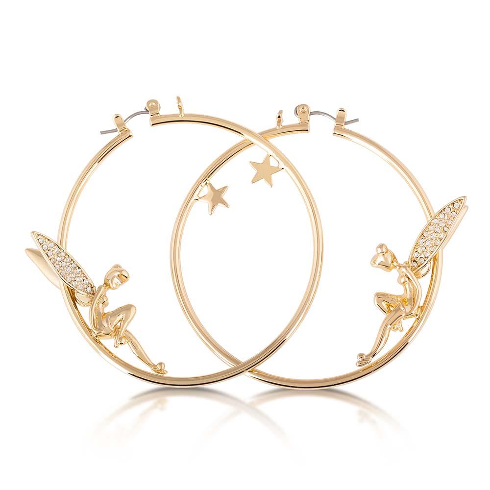 DISNEY Tinkerbell Crystal Hoop Earrings