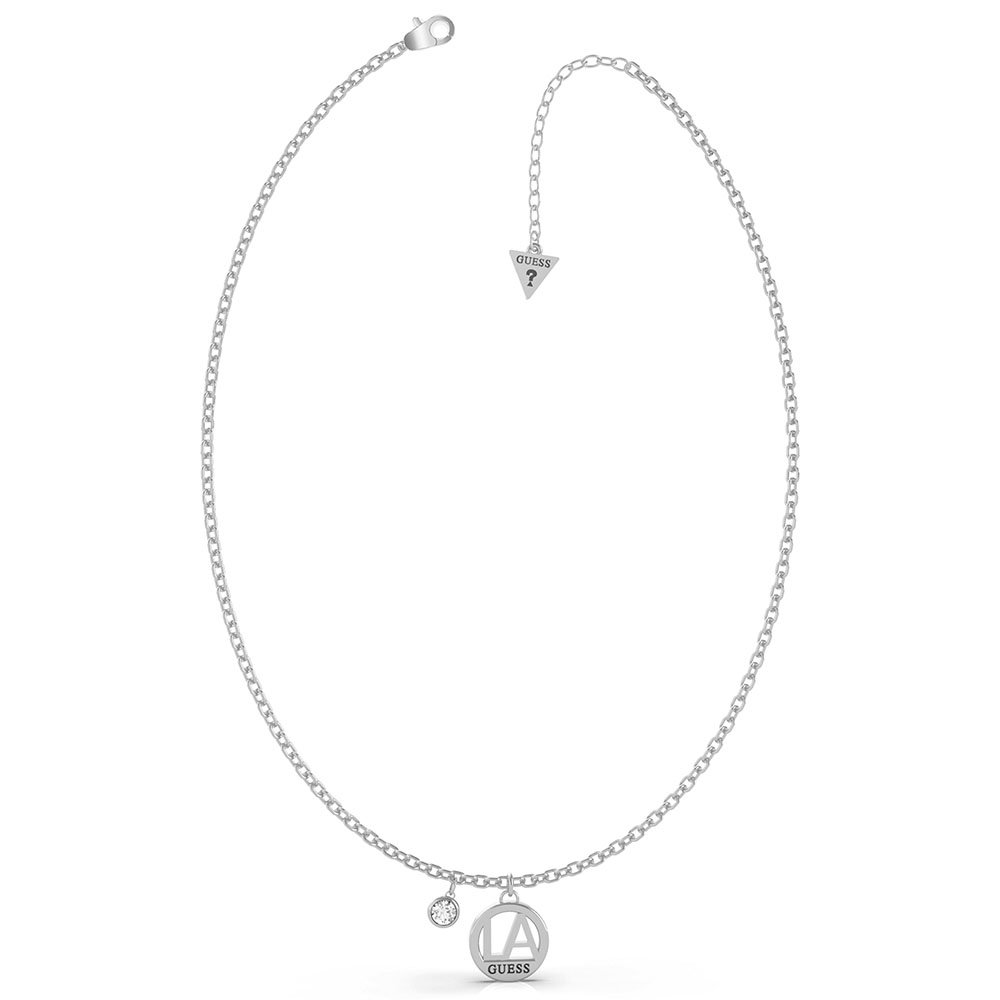 GUESS Single LA Charm and Crystal Necklace