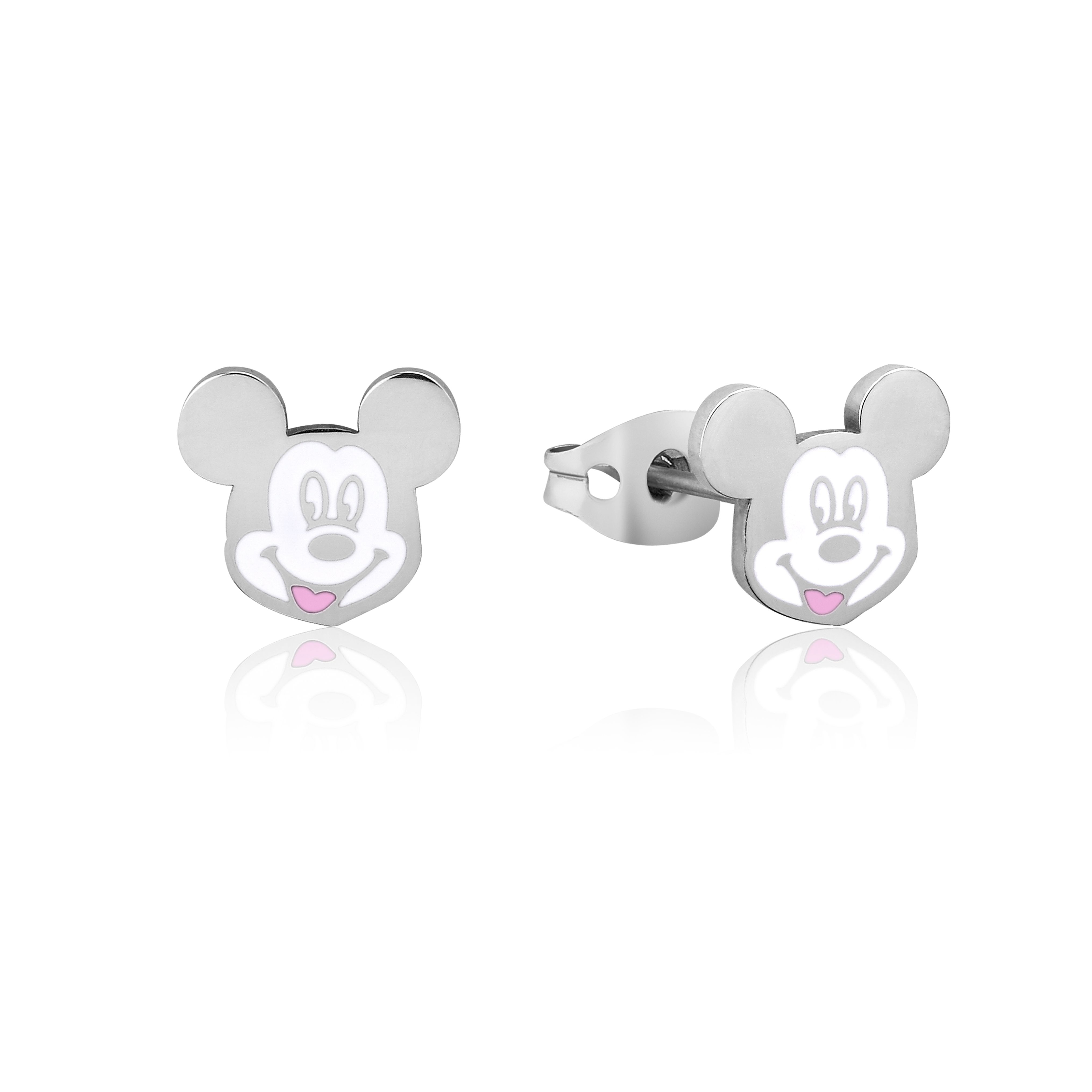 DISNEY Stainless Steel 11mm Animated Mickey Mouse Studs