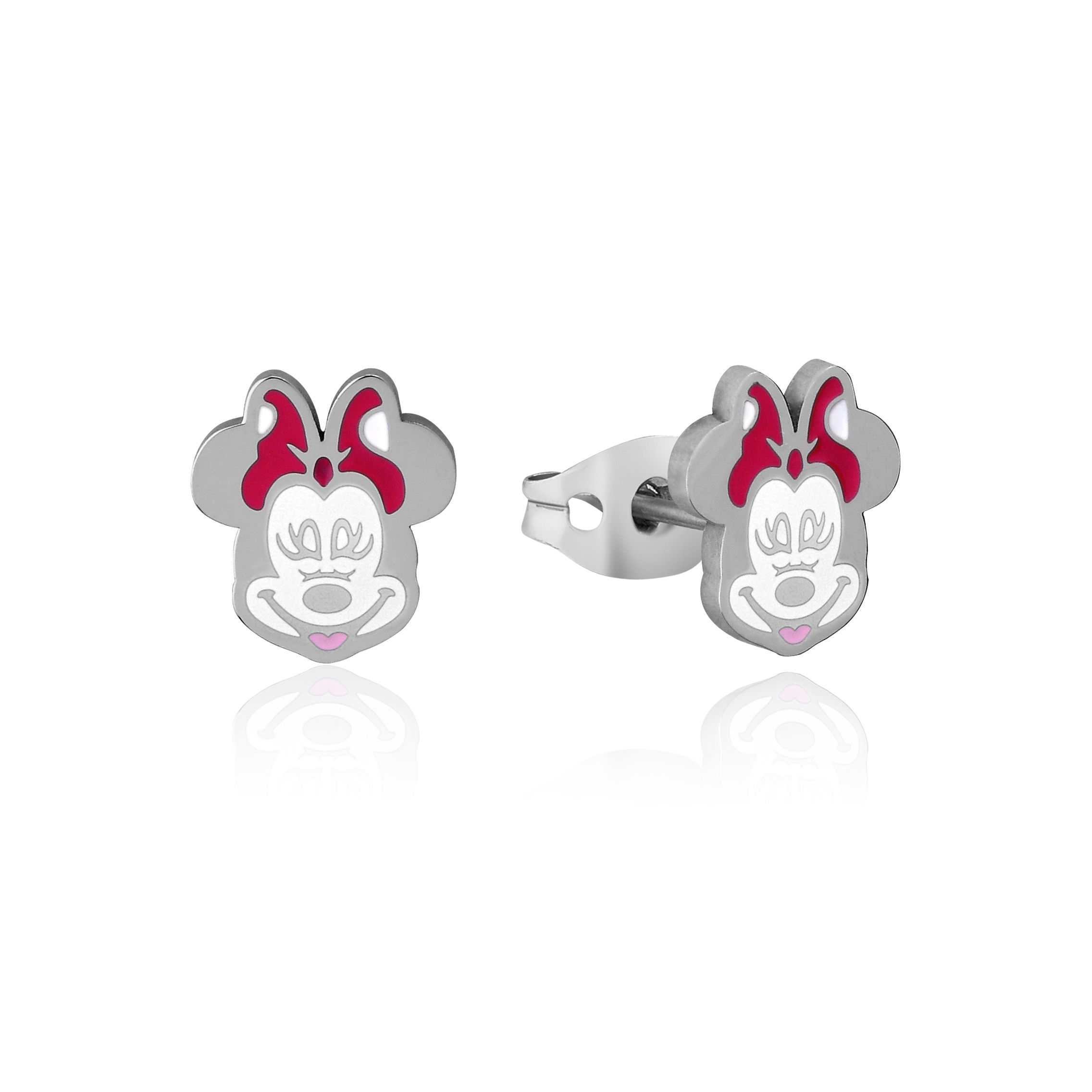 DISNEY Stainless Steel 11mm Animated Minnie Mouse Stud Earrings