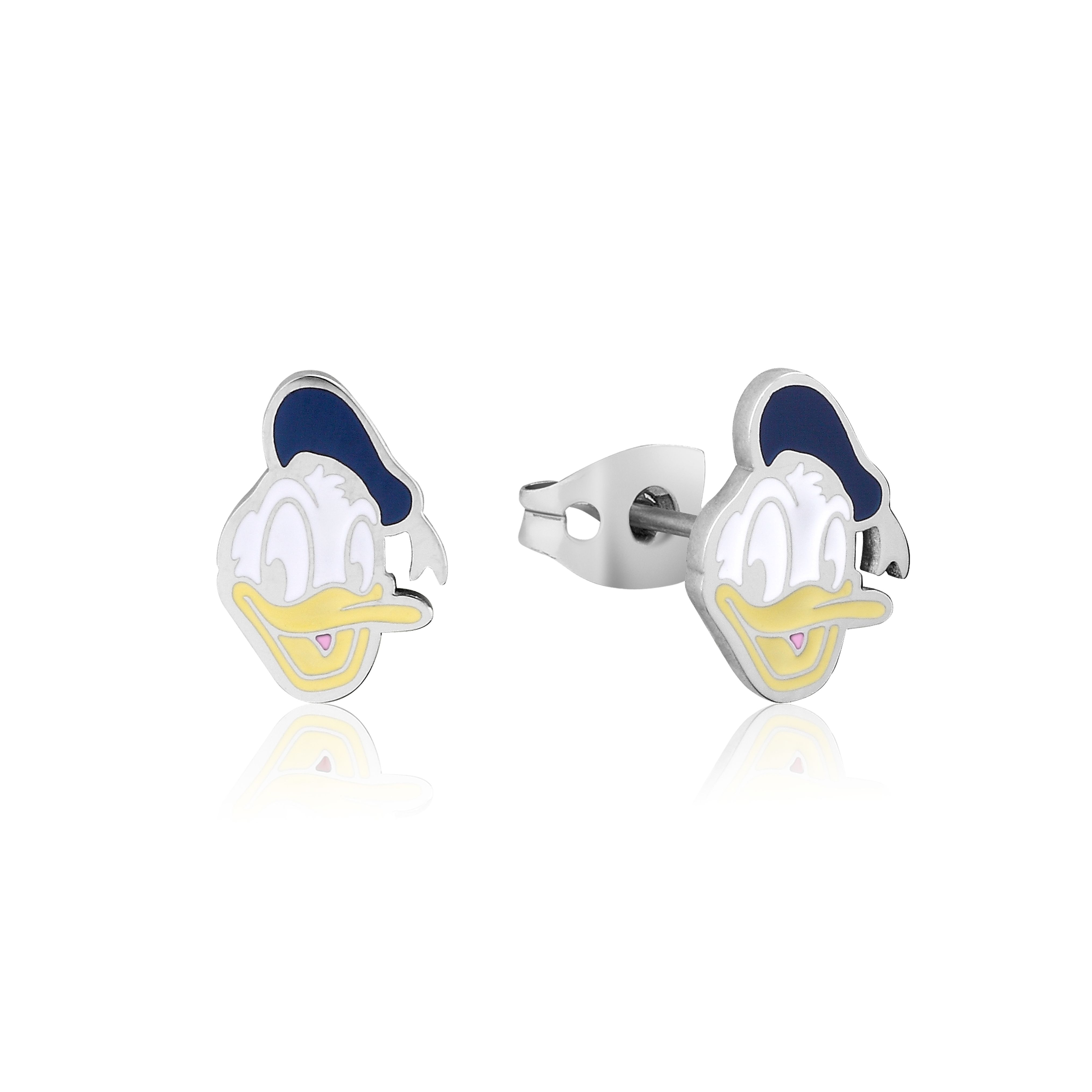 DISNEY Stainless Steel 11mm Animated Donald Duck Studs Earrings