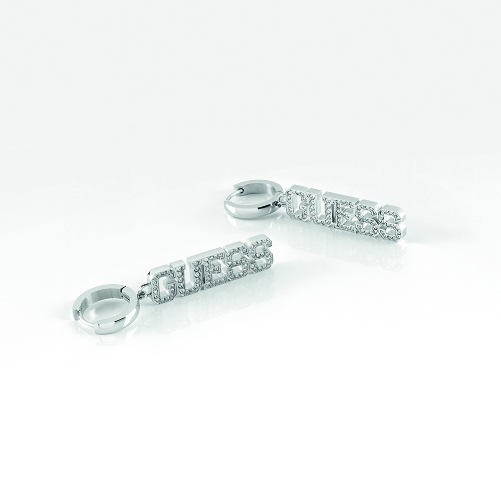 GUESS Pave Huggies Pendant SST