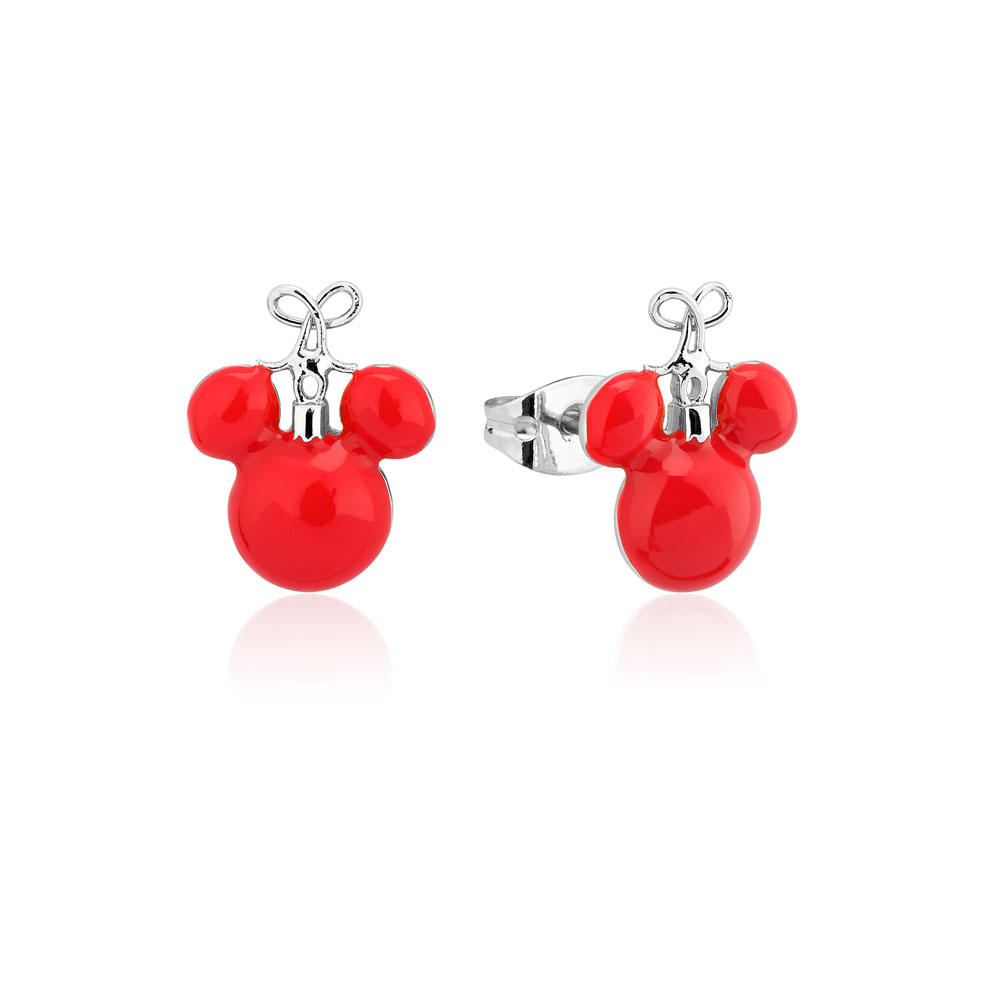 Disney Mickey Red Christmas Bauble Studs