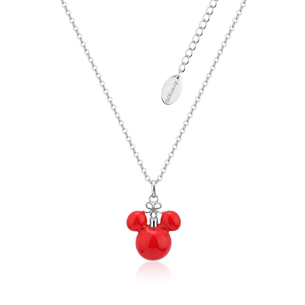 Disney Mickey Red Christmas Bauble Necklace on Chain